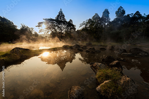 onsen or hot spring in national park, Thailand © mangpink_s