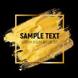 Gold Paint Glittering Textured Art Illustration. Vector - 134974764