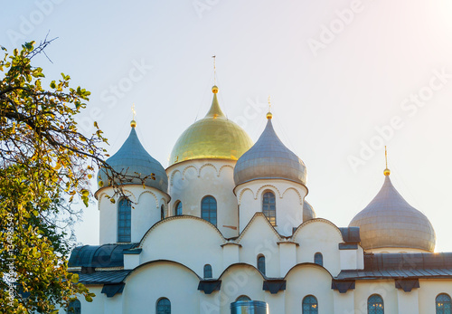 Poster Cathedral of Saint Sophia in Veliky Novgorod, Russia