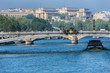 Seine River Embankments and Alexandre III bridge. Paris, France.