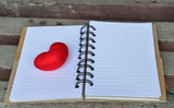 Diary page with red heart - 135001113