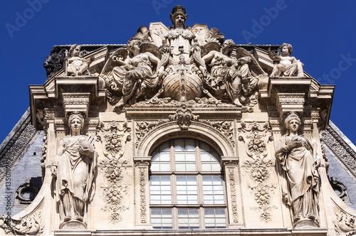 Louvre tower pediment Poster