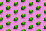 Diagonal colorful lime pattern pop art style on pink