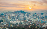 View the most beautiful in Seoul and the Seoul Tower, South Korea.