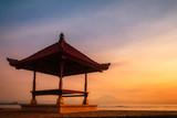 Sanur beach at Bali, Indonesia during sunrise