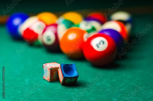 Staande foto Pool table