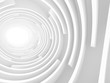 Abstract White Tunnel Light Background
