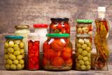 various preserved food