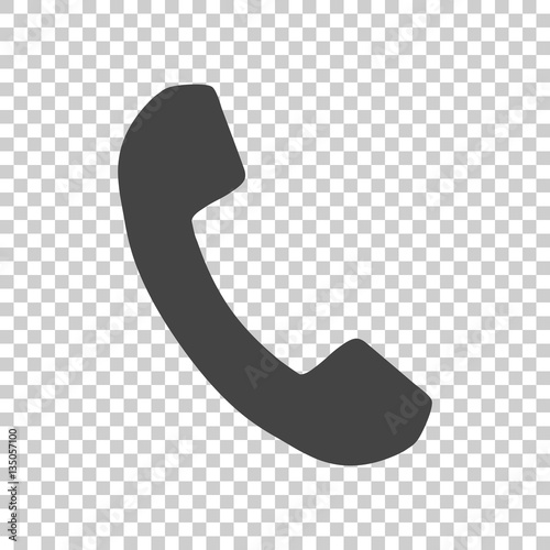 Phone icon in flat style. Vector illustration on isolated background. - 135057100