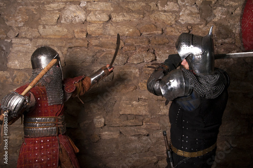 Poster Photo of knights who fight