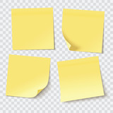 yellow sticky notes, vector illustration - 135074174