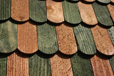 Background: wooden ledges, laths of green and brawn color 2