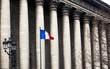 Paris colonnade with flag
