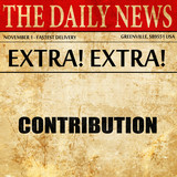 contribution, newspaper article text
