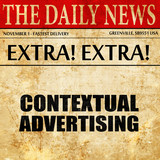 contextual advertising, newspaper article text