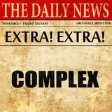 complex, newspaper article text