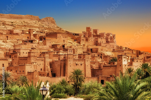 Fotobehang Marokko Kasbah Ait Ben Haddou in the Atlas mountains of Morocco. UNESCO World Heritage Site