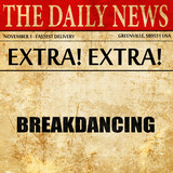 breakdancing, newspaper article text