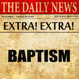baptism, newspaper article text