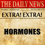 hormones, newspaper article text
