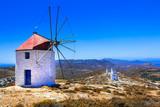 Authentic Greece - windmills of Chora village in Amorgos island