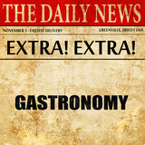 gastronomy, newspaper article text
