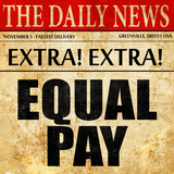 equal pay, newspaper article text