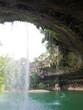 A waterfall at a limestone rock formation at Hamilton Pool Preserve near Austin, Texas.