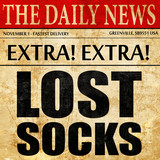 lost socks, newspaper article text