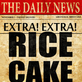rice cake, newspaper article text