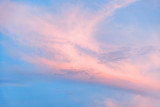 pink and blue sunset sky, pastel colour