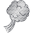 silhouette cloud calloutdotted for dialogue with cumulus vector illustration