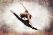 Young woman ballet dancing