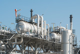 Industrial zone,The equipment of oil refining,Close-up of indust - 135139973