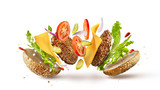 Burger preparation ingredients