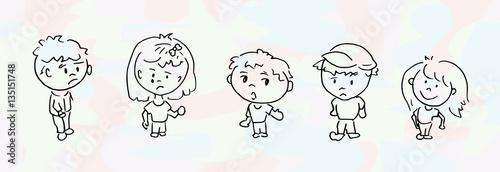 Cartoon tekening van kinderen