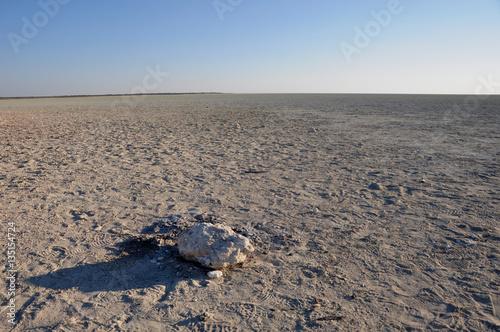 Poster Sand, Salzkruste, Savanne: DIe Etosha Salzpfanne. Sand salt and