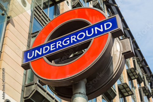 Famous London underground sign Plakát
