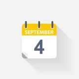 4 september calendar icon