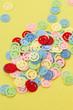 canvas print picture - Buntes Smiley Konfetti