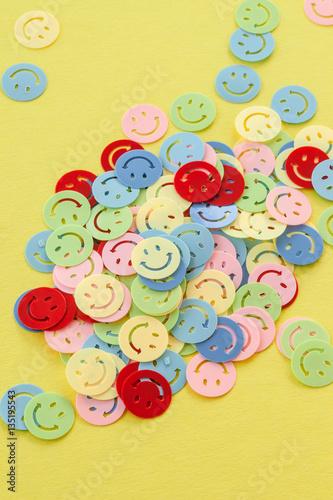 canvas print picture Buntes Smiley Konfetti