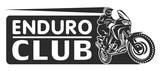 Fototapety Motocross race enduro extreme motorcycle driver logo monochrome illustration
