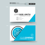A clean and minimal business card design. vector illustration.