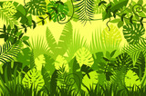 bright tropical background. vector illustration. - 135219928
