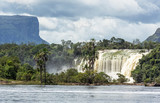 The Hacha falls in the lagoon of Canaima national park - Venezuela, Latin America - 135229392