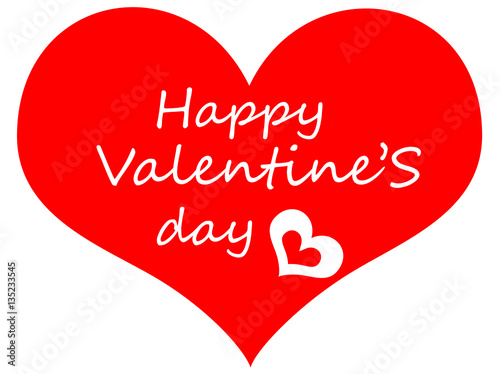 Cartolina O Illustrazione Per San Valentino Con Un Cuore Rosso E La