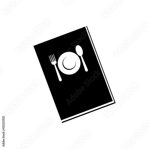 Restaurant menu book icon vector illustration graphic design