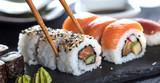 Fototapeta Maki - Sushi Verschiedene sorten  © karepa