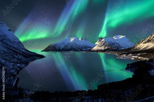 Fotobehang Noorderlicht Norway