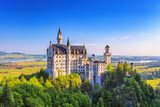 Summer view of Neuschwanstein Castle, Fussen, Bavaria, Germany